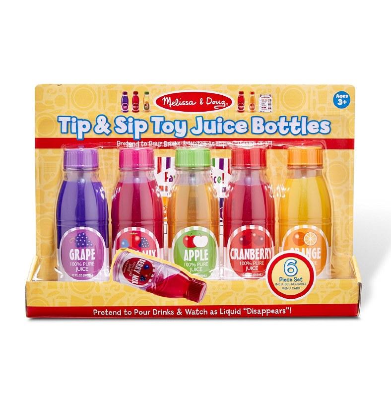 Melissa Doug Tip Sip Toy Juice Bottles