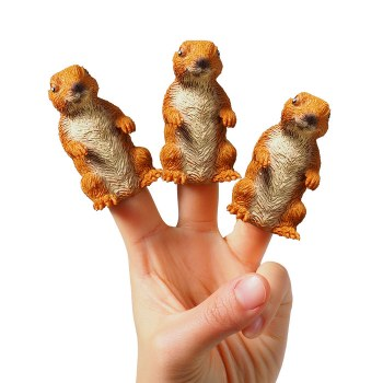 Prairie Dog Finger Puppets