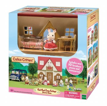 Calico Critters Red Roof Cozy Cottage Starter Set