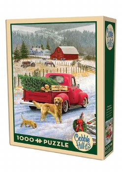 Cobble Hill 1000pc Christmas On The Farm