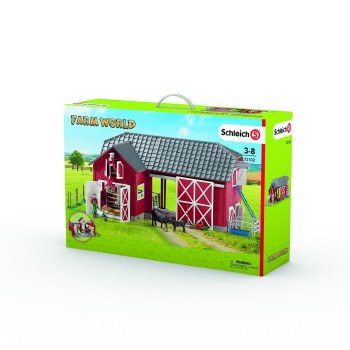 Schleich Farm World Large Red Barn With Accessories