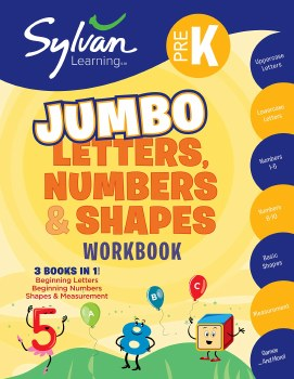 Sylvan Learning Jumbo Letters, Numbers Shapes Workbook