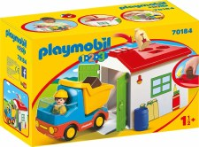 Playmobil 123 Construction Truck With Garage 70184