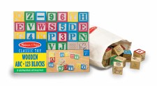 Melissa & Doug Wooden Blocks Abc/123