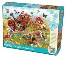 Cobble Hill 350 Pc Family Puzzle Garden Scene