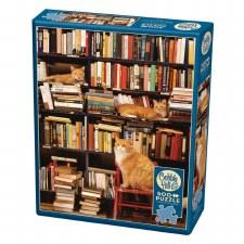 Cobble Hill 500pc Gotham Bookstore Cats