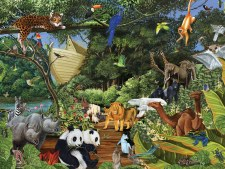 Cobble Hill 350pc Noah's Gathering Family Puzzle