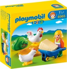 Playmobil 123 Farmers Wife With Hens 6965