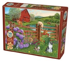 Cobble Hill 275pc Farm Cats