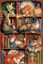 Cobble Hill 2000pc Feline Bookcase