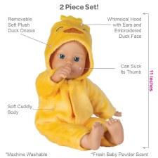 Adora Funsie Onesie Babies Duck