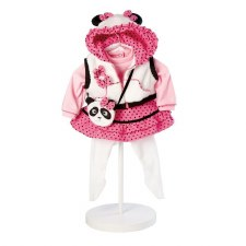 Adora 20 Panda Fun Outfit With Vest Pink & White