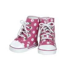 Adora White Pink Polka Hightop