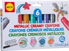 Alex Metallic Creamy Crayons