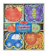 Melissa & Doug Alphet Lacing Cards