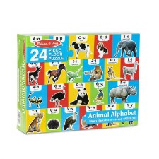 Melissa & Doug Animal Alphabet Floor Puzzle 24pc