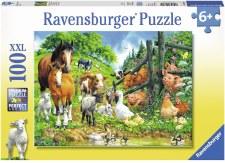 Ravensburger 100pc Xxl Animals Get Together