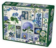 Cobble Hill 1000pc Blue Flowers