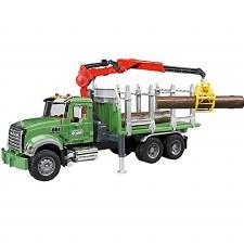 Bruder Mack Granite Timber Truck With Trunks