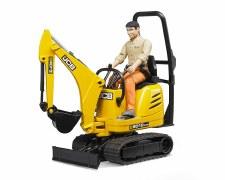 Bruder Jcb Micro Excavator 8010 & Construction Worker 62002