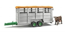 Bruder Livestock Trailer With Cow