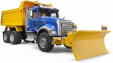 Bruder Mack Granite Dump Truck With Snow Plow