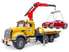Bruder Mack Granite Tow Truck With Roadster