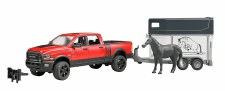 Bruder Ram 2500 Pick Up With Horse Trailer & Horse