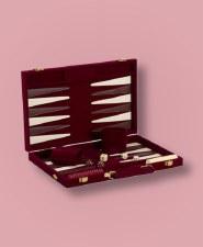 Backgammon Burgandy Velvet