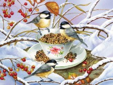 Cobble Hill 275pc Chickadee Tea