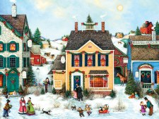 Cobble Hill 275pc Christmas Town Easy Handling