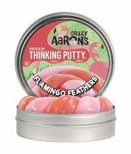 Crazy Aaron's Thinking Putty Hypercolor Flamingo Feathers