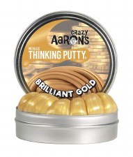 Crazy Aaron's Thinking Putty Brilliant Gold Small Tin