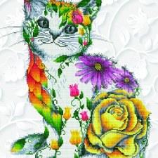 Diamond Dotz Flower Puss