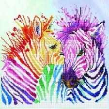 Diamond Dotz Rainbow Zebra