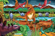 Cobble Hill Floor Puzzle 36pc Dinosaur Volcano