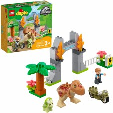 Lego Duplo T. Rex And Triceratops Dinosaur Breakout 10939