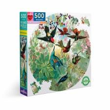 Eeboo 500 Piece Round Puzzle Hummingbirds