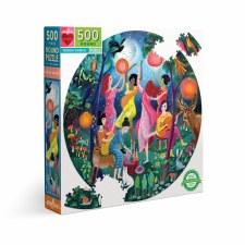 Eeboo 500 Piece Round Puzzle Moon Dance