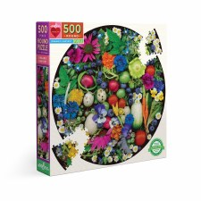 Eeboo 500 Piece Round Puzzle Organic Harvest