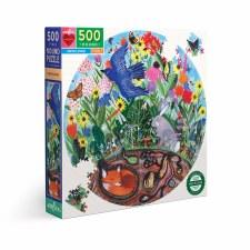 Eeboo 500 Piece Round Puzzle Rewilding