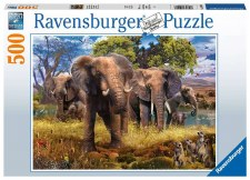 Ravensburger 500pc Elephant Family