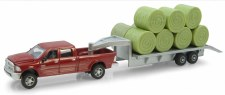 Ertl Case Dodge Pick Up With Trailer And Bales