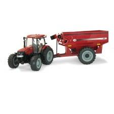 Big Farm Case 180 With Grain Cart