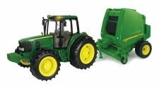 Ertl Big Farm Jd Tractor And Round Baler