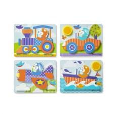 Melissa & Doug First Play Jigsaw Puzzle Set Vehicles