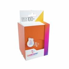 Deck Box Orange Holds 100 Cards