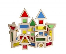 Guidecraft Jr Rainbow Blocks 40 Pc