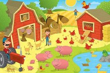 Cobble Hill Floor Puzzle 36pc Higgledy Piggledy Farm