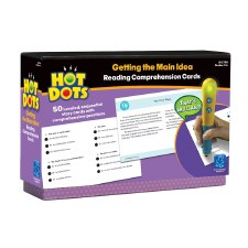 Hot Dots Getting The Main Idea Reading Comprehension Cards